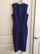 Victoria Beckham Bodycon Wool Blue Dress UK 8/ US 4 Retailed For $1995