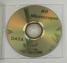 Ao Microscopio datos manuales guías Vintage materiales de referencia folletos Info Cd