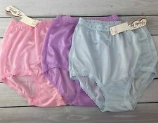 Vanity Fair Panties Sheer High Waist Blue Pink Purple Mushroom Gusset Sz 5 NOSWT