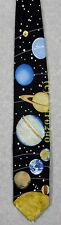 SOLAR SYSTEM w/ PLUTO PLANETS SPACE ASTRONOMY SCIENCE Wild Ties Silk Necktie NEW
