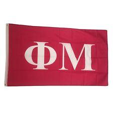 Phi Mu Letter Design 2' x 3' Spirit Size Flag