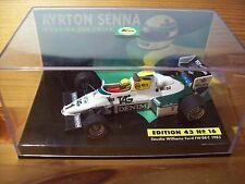 1/43 AYRTON SENNA No 16 SAUDIA WILLIAMS FORD FW08C 1983 + SLEEVE