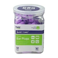 Flents Quiet Time Soft Foam Ear Plugs (50 Pair) Maximum Hearing Protection 33dB