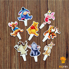 48pcs Winnie The Pooh  Baby Birthday Decoration Cupcake Toppers Party