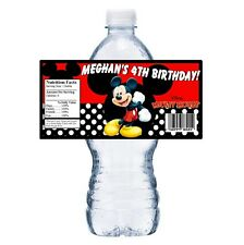 20 MICKEY MOUSE PERSONALIZED BIRTHDAY PARTY FAVORS ~ WATER BOTTLE LABELS