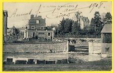 CPA RARE 35 - LA VILAINE Le MOULIN de JOUÉ Ecluse TOMBOLA Pêcheurs Rennes 1908