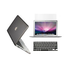 "3 in 1 Crystal GREY Case for Macbook PRO 13"" + Keyboard Cover +   LCD Screen"