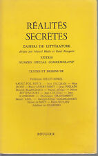 REVUE  REALITES SECRETES N°43 JEAN COCTEAU P. BETTENCOURT J. PAULHAN M. JACOB...