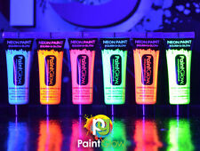 UV Glow Neon Face & Body Paint - 10ml SET of 12 - Fluorescent (WAX BASED)