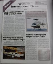 Aviation International News Magazine NTSB Urged To Quit January 2000 FAL 072115R