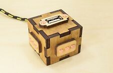 USB Extension Cable - Steampunk Wooden Box - USB 2.0 - Braided Cable