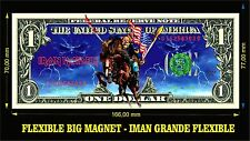 IRON MAIDEN USA IMAN BILLETE 1 DOLLAR BILL MAGNET