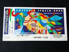 BIGLIETTO LOTTERIA ITALIA 2000