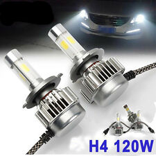120W 12000LM LED headlight Kit COB H4 9003 Hi/Lo beams 6000K White XENON