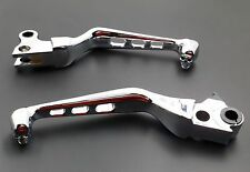 Chrome Skull Brake Clutch Lever for Harley Sportster Softail Fat Boy FXDL FXSTC