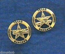 Engraved Goldtone Texas Ranger Badge Cuff Links