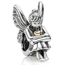 Original PANDORA Element Charm 791206 Nymphe mit goldenem Herz