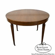 Kindel Vintage Regency Directoire Style Round Extension Dining Table