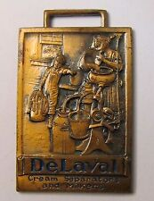 circa 1920 DELAVAL CREAM SEPARATORS & MILKERS rectangular watch fob *