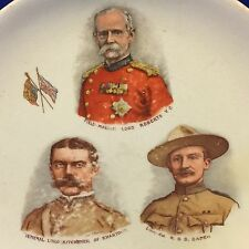 Boy Scout Vintage Souvenir Plate Baden-Powell - Lord Roberts & Lord Kitchener