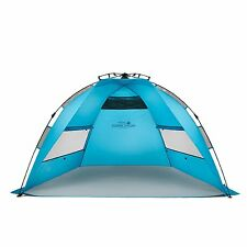 Pacific Breeze EasyUp Beach Tent Outdoor Canopy Sun Shelter Pop Up Blue Large