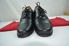 CLARKS BLACK LEATHER BEESTON CAP TOE OXFORDS STYLE # 26102889 LEATHER UPPER