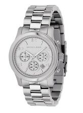 New Michael Kors Runway Silver Stainless Steel Chronograph MK5076 Women's Watch
