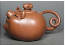 Chinese Old Purple Clay Wonderful Handwork Lovely Pig Tea Pot China