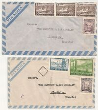2 COVERS ARGENTINE ARGENTINA TO JONKOPINH SWEDEN. L629