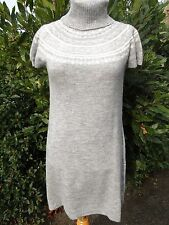 ROBE TUNIQUE  FEMME MARQUE YESSICA C & A TAILLE L 40 42 TBE GRISE LAINE HIVER
