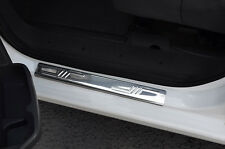CHROME DOOR SILL PLATE COVERS SCUFF PROTECTORS TRIM TWIN SET FOR FIAT FIORINO