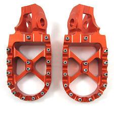 Warp 9 Billet Footpegs Orange KTM SXF XC EXC SX 125 250 300 350 450 990 2017 NEW
