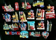 3D I LOVE LONDON ENGLAND UK FRIDGE MAGNET SOUVENIR CERAMIC FRIDGE MANGET 12 pcs