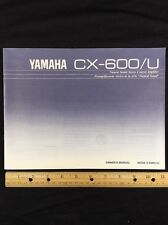 Yamaha CX-600/U Stereo Preamp Original Owners Manual 14 Pages English cx600