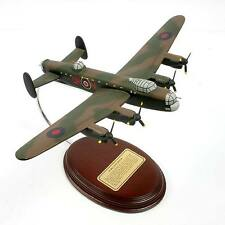WW II RAF Avro Lancaster Bomber  - Hand-Carved 1/102 Scale - Ready to Display