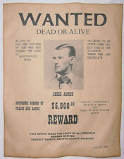 Jesse James Wanted Poster, Western, Outlaw, Old West