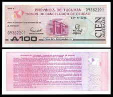Argentina 100 AUSTRALES Tucuman 1991 P S2715 UNC