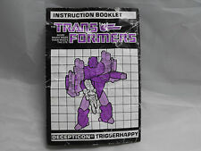 TRANSFORMERS GENERATION 1, G1 DECEPTICON TRIGGERHAPPY INSTRUCTIONS