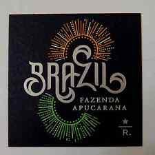 Starbucks Coffee Reserve Taster Card Mint - BRAZIL FAZENDA APUCARANA