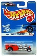 1997 Hot Wheels #514 First Edition #7 Way 2 Fast '97crd Unpainted Malaysia base
