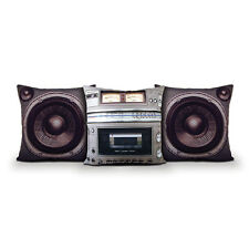Boombox Pillows from Meninos. 80's retro style novelty cushion, Cool Fun Gift!