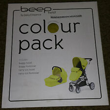 BABY ELEGANCE BEEP Twist puschair BUGGY Carry Cot Citrus PACCO COLORE gratis UK P & P