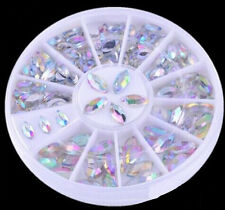 Diverse Color Nail Art Tips Crystal Glitter Rhinestone Decoration Wheel HU