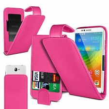 For Huawei Y6 II Compact - Clip On PU Leather Flip Case Cover Pouch