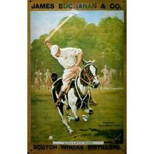 James Buchanan Scotch Whisky Polo Cheval Old Annonce Moyen 3D Métal estampé
