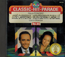 CD - Classik Hit Parade Vol. 20 Jose Carreras Montserrat Caballe Live in Moscow