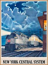 New York Central System Locomotive United States Travel Advertisement Poster