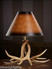 NEW WHITETAIL DEER ANTLER ANTLERS TABLE DESK LAMP LIGHT- RUSTIC DECOR - MADE USA