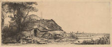 Rembrandt Etching Reproductions: Landscape with Cottage & Tree: Fine Art Print