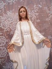 "Antique Religious Statue Our Lady of Grace 17"" Columbia Statuary New Old Stock"